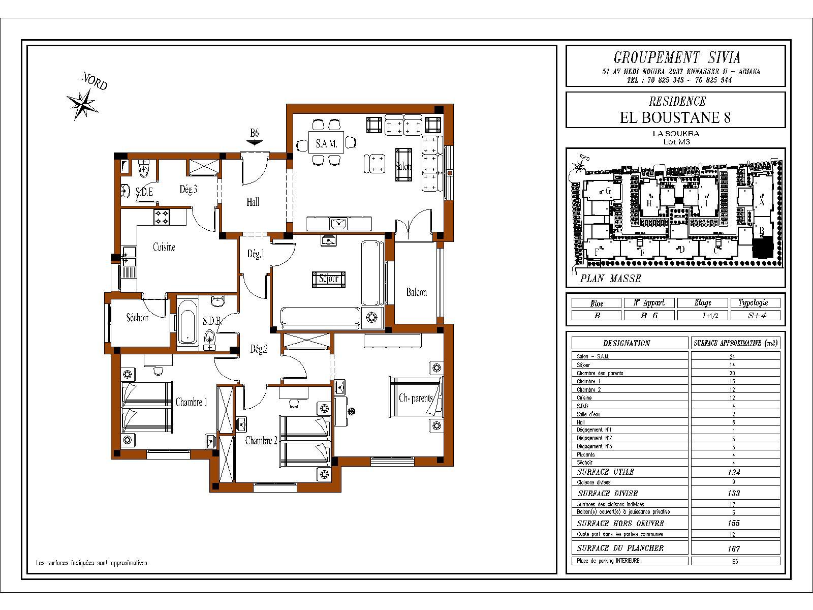 plan appartement en tunisie